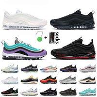 Nike air max 97 max air nike 97 MSCHF x Lil Nas x Satan 97 여성 남성 운동화 트리플 화이트 블랙 UNDEFEATED Worldwide Tropical Twist Sneakers Trainers
