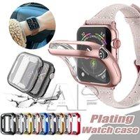 Reloj Funda Funda Apple Relojes Series 5 4 3 2 1 Bandas 42mm 38mm 40mm 44mm Casas de TPU Slim TPU Protector de espejo para iWatch