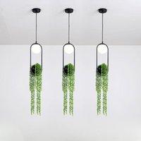 Sarkıt Hamboder Modern Işık Nordic Bitki Saksı Koridor Restoran Güzel Gökyüzü Bahçe LED Lamba Oturma Odası Dekorasyon Için