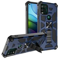 Mobile phone cases For iphone 13 Moto G Stylus 5G G10 G30 G100 E7 power PLAY 2021 case shell mixed PC TPU 2 in 1 Hybrid Armor Kickstand Shockproof Back Cover B