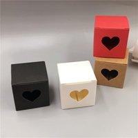 Geschenk Wrap 30 stücke Kleinwürfel Kraftpapier Verpackungsbox 5x5x5cm Mini Handgemachte Seife / Kuchen / Candy Pappe Hochzeit Gunst Verpackung