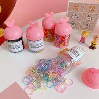Cute Candy Color Bucket Guma Band Macaroni Moda Baby Hair Tie Head Ring