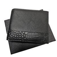 Европейский стиль мужской карты кожаный кошелек бизнес кассовый клип мода портативная сумка тонкий кошелек монет с установленным коробкой