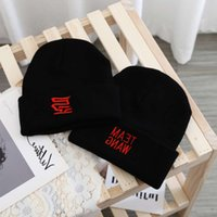 ball caps This is the same woolen of Wang Jiaer, teamwang embroidered men's and women's hip-hop knitted fashion brand cold hat