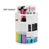 Organisation de stockage de salle de bains 360 degrés rotative de bijoux cosmétiques créatifs de maquillage de maquillage de maquillage pour outils de bureau pour domicile