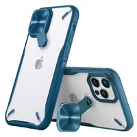 Kickstand Phone Cases For Iphone 13 12 Pro Max Mini 11 XSMAX XR XS X 8 7 6 New Design Camera Lens Protection Transparent Cellphone Case Clear Back Cover