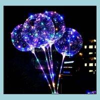 Event Festive Party Supplies Home & Garden Led Lights Night Lighting Bobo Ball Mticolor Decoration Balloon Wedding Decorative Bright Lighter
