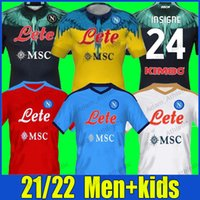 Napoli Insigne Futbol Formaları 2021/22 Fabian Koulialy Osimhen Futbol Gömlek H.lozano Mertens Zielinski Jersey Napoli Elmas Milik Maradona Politano Erkek Çocuk Seti