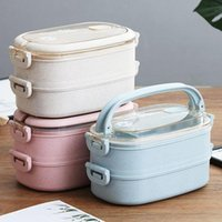 Dinnerware Sets Special Lunch Box For Microwave Oven, Portable Plastic With Lid, Student Female Office Worker Adult Double-layer Lu