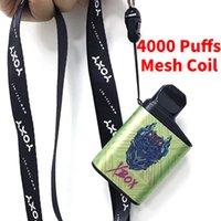Authentic 4000 Puffs Disposable E cigarettes Vape Pen 12ml Pre-filled Pods Mesh Coil Cartridge 550mAh Rechargeable Battery Device Kit Air Flow Puff Bar XXL Max