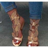 2021 moda casual estilo de explosión mujeres sandalias mariposa rhinestone más tamaño mujer zapatos sz 36-43