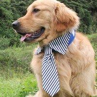Verstellbare Streifen Hund Krawatte für mittelgroße große Krawatten Mode-Accessoires Welpenpflege Bug-Krawatten Kleidung