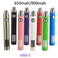 Vape Battery UGO V II 510 Preheating Batteries 650mAh 900mAh Vaporizer Pen Batteries With Micro USB Cables for E cigs Cartridge Atomizers