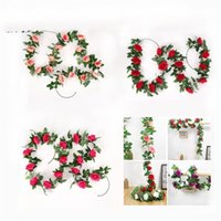 Artificial Rose Flower Vines Wedding Decorations Silk Wisteria Flowers Rattan Home Garden DIY Garland Party Table Centerpiece 4758 Q2