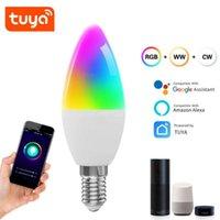 Smart Home Control Dimmable E14 Lampada LED LED RGB WiFi Bulb Voice Tuya App Remote Colore Light 100-265V Funzione di temporizzazione