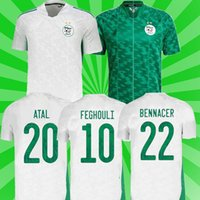 Cezayir 2021 Ev Uzakta Futbol Formaları Mahrez Feghouli Bennacer Atal 20 21 Cezayir Futbol Takımları Gömlek Erkekler + Çocuklar Maillot De Ayak Üniforma Setleri