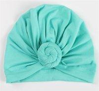 Anne ve Kızı Büküm Türban Kadınlar Bebek Kız Yaz Güz Kış Şapka Toptan Bebek Pamuklu Düğüm Kasketleri Şapka Kapak Çocuk Bonnet 94 Y2