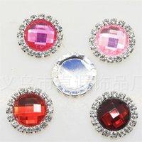 100 stücke 23mm flatback acryl kristall strass hochzeit buttons verschönerungen diy haarzusatz dekor 2254 q2