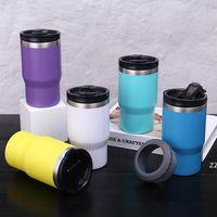 Vakuum 14 Unzen Sprühen-Tumbler-Farb-Edelstahl-Flasche mit Deckel-Auto-Eis-Kaffeetasse Meer Versand HWB8507