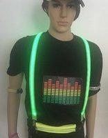 Unisex LED Işıklı Jartiyer 3 Klips-On Parantez Vintage Bakış Elastik Y-şekil Ayarlanabilir Pantolon Askıya Festival Kulübü