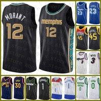 2020 2021 Nouveau Jersey de basket-ball Ja 12 Morant Nouveau Ja 12 Morant Jayson 0 Tatum Jamal 27 Murray 15 Jokic