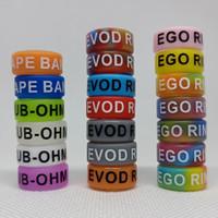 Ego Evod SilkPrint Anillos Silicona Vape Band 16 * 7 * 1.5mm Bolsa Logo personalizado colorido para Ecuigarette Tank Mod