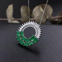 Chains Round Flowers Pendant Necklaces High Quality Cubic Zircon Fashion Jewelry For Women Creative Gifts White Gold Color