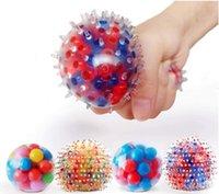 Fidget DNA Squish Squish Ball (paquete de 4-Paquete) Squeeze Color Sensory Toy Relieve Tension Home Travel andFree Office Uso Fun para Niños Adultos FY9409
