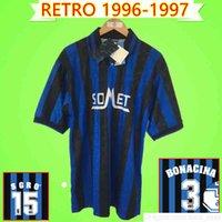 Atalanta Retro Soccer Jerseys 1996 1997 Vintage Home Blu Camicia da calcio Uniformi Classic 96 97 Pehson Sgro Bonacina inzaghi Morefo Fortunato