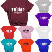 S-2XL 2021 Summer T shirts Unisex Trump 2024 Tops TAKE AMERICA BACK Tshirt Women Mens Letters Print Sports Casual Tee ClothG33VRYH