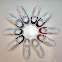 2021 Diseñador Hombres Mujeres Mujeres Blanco Entrenadores Zapatos Casual Zapatos Espáthrilles Plata Plataforma Deporte Zapatillas Deporte Zapatillas de deporte plano con caja 36-45