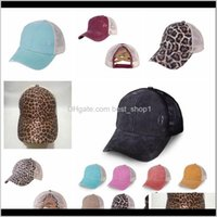Accessories Baby, Kids & Maternity Drop Delivery 2021 12 Styles Baseball Cap Leopard Criss Cross Cotton Trucker Caps Camo Hats Washable Solid