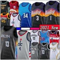 13 Harden Jersey Russell 4 Westbrook Jersey New Mens Devin 1 Booker Basketball Jerseys 2021 Jersey pas cher Ventes de haute qualité