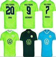 21 22 VFL Wolfsburg 축구 유니폼 홈 멀리 3th Weghorst Baku 2021 2022 Steffen Brekalo Mehmedi Philipp Bialek Guilavogui Arnold Xaver Ginczek 축구 셔츠
