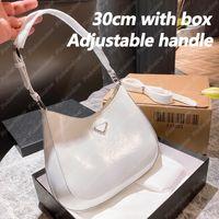 Hobo Bag 30 cm Frauen Umhängetaschen Handtasche Frauen Luxurys Designer Taschen Rucksack Totes Cleo gebürstet Leder Designer Brieftasche 2104201L