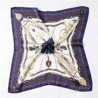 Impresión en cadena eólica 70 bufanda de seda pequeña bufanda de mujer Simulación Simulación Silida bufanda decorativa carrera