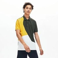 셔츠 코튼 캐주얼 솔리드 컬러 Menl T 셔츠 악어 여름 패션 옴므 주머니 최고 품질 남성 짧은 소매 스타일 남성용 폴로스