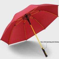 Umbrellas автоматическая длительная ручка реклама ветрозащитный гольф зонтик супер легкий водонепроницаемый больший может быть настроен логотип