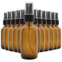 Bouteilles de stockage pots 12pcs 30 ml portables verre ambre d'ambre d'huile essentielle spray transparent voyage brun répliquhage brouillard de brouillard
