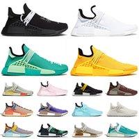 adidas pharrell williams human race nmd 2021 Running Shoes Ultraboost NMD Triple Black ALL White Dash Green Chocolate الرجال النساء المدربين في الهواء الطلق أحذية رياضية