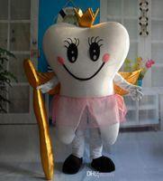 Vestido de fantasía de dibujos animados de la mascota del ángel del diente feliz