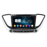 "4 GB + 128 GB CARPLAY PX6 2 DIN 8 ""Android 10 Araba DVD Oynatıcı Hyundai Verna Accent Solaris 2017-2020 DSP Stereo Radyo GPS Navigasyon Wifi Bluetooth 5.0"