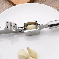 Овощные инструменты из нержавеющей стали из нержавеющей стали чеснок вдавливание устройства приготовление приготовления прессы ручной дробилка Джинжер Squeezer Slicer Masher EEB6061