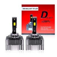 Car Headlights HCDLT 2021 D1S D3S LED Canbus Headlight Bulb Plug Play To Original HID Conversion Ballast Super White D5S D8S Light