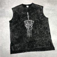 Vintage Black Print Pank Tops Hip Hop Rilassato Tee Summer Streetwear Streetwear