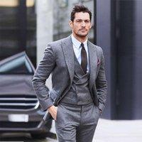Shert Tweed 3 Piece Набор мужских костюмов Slim Fit Куртка изготовлена на заказ деловой работник носить Blazervestpants Groomsman Hoodcoat 2021 мужской Blazer