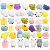 Mochi Squishy Toys Party Favors for Kids Cat Dolphin Squishy Squeeze Stress Relief Toys Mini Kawaii Animal Party Novelty Toys Boy Girl