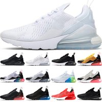Nike Air Max 270  المدربين الرجال النساء الاحذية الرجال الثلاثي أسود أبيض ولدت أوريو صور الأزرق Habanero الأحمر الأزياء أعلى المدرب الرياضة حذاء رياضة حجم 5،5 حتي 11
