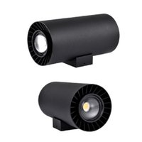 20W 현대 야외 벽 램프 검은 바디 컬러 IP65 방수 AC90 ~ 265V COB 리드 LED 조명 홈 조명 장식 가든 병동 램프 가로보기 쉽게 설치할 수 있습니다