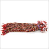 Charm Bracelets Jewelryhandmade Braided Red Thread Bracelet Lucky Rope String Braclet For Women Woven Jewelry Brithdays Gift Drop Delivery 2